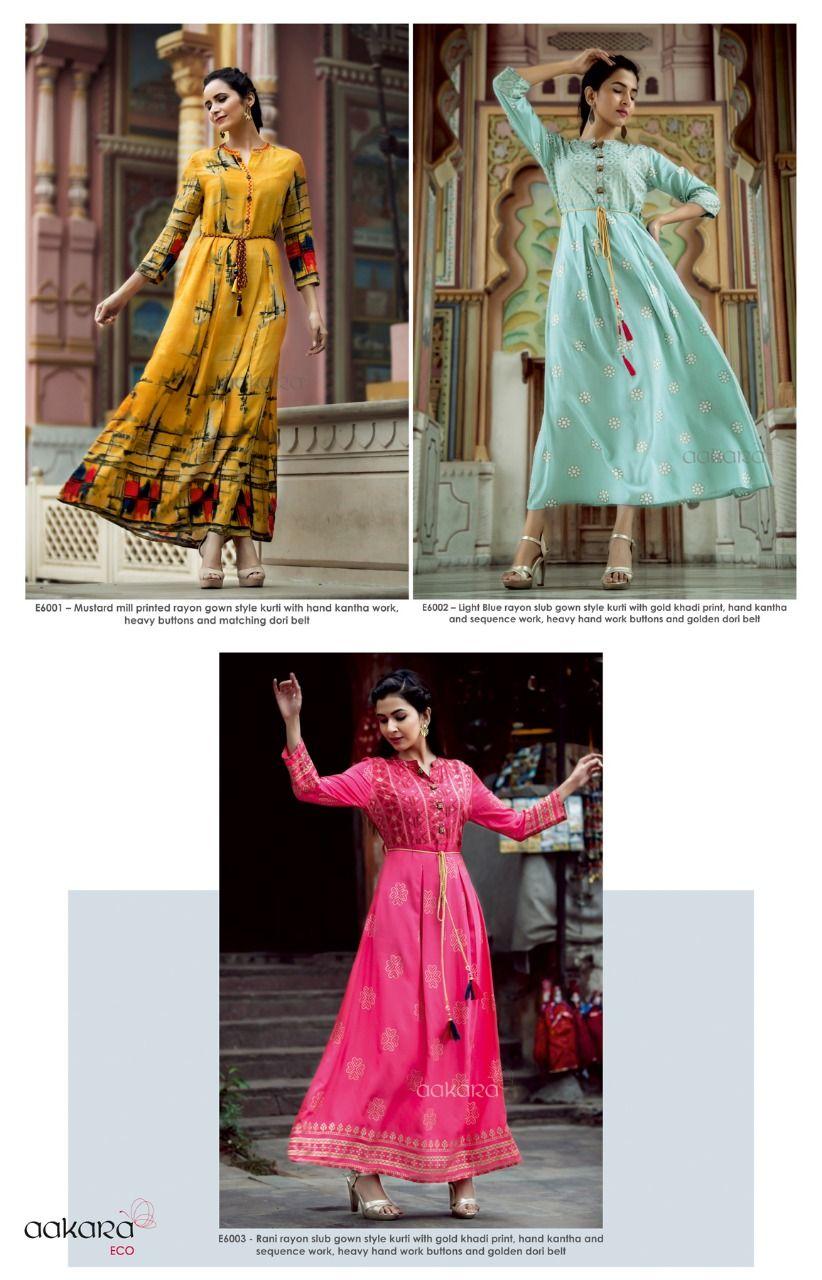 bcec29268e announces launch of **AAKARA ECO Volume 6** Festive Gown Kurti Catalog