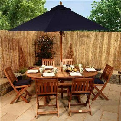 BillyOh Elegance 1.8m Oval Ext 6 Seat Wooden Garden Furniture Set ...