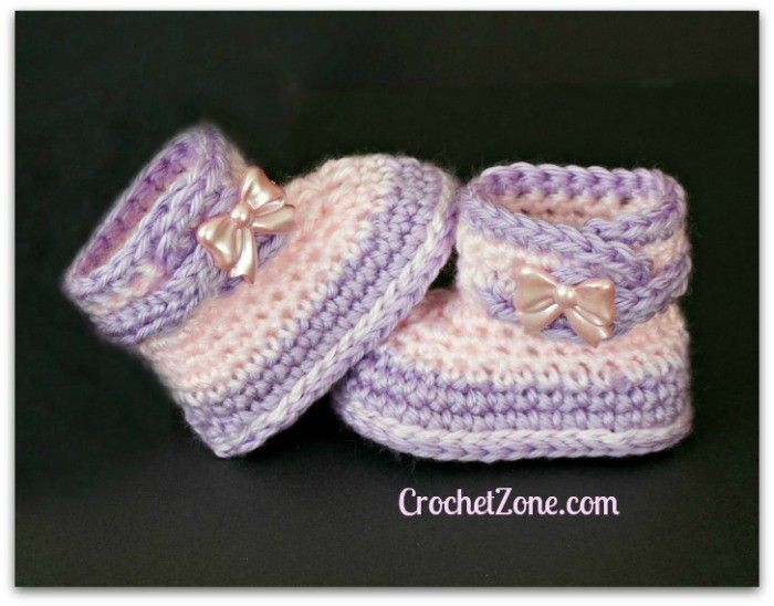 Free Crochet Pattern for Fuzzy Booties | Baby crochet | Pinterest ...