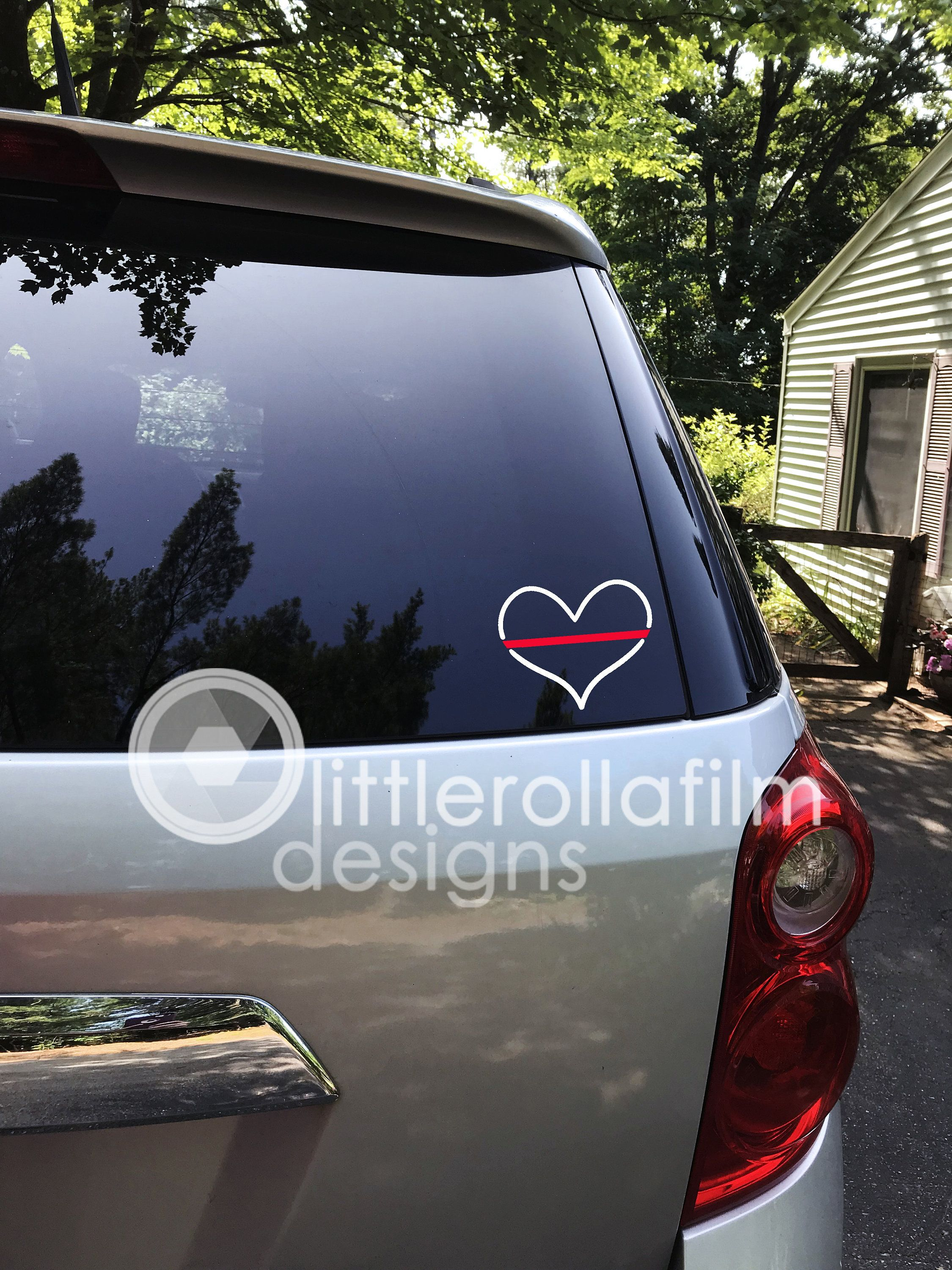 Thin Red Line Heart Vinyl Decal Firefighter Support Decal Etsy Vinyl Decals Fox Decal Motivational Decals [ 3000 x 2250 Pixel ]