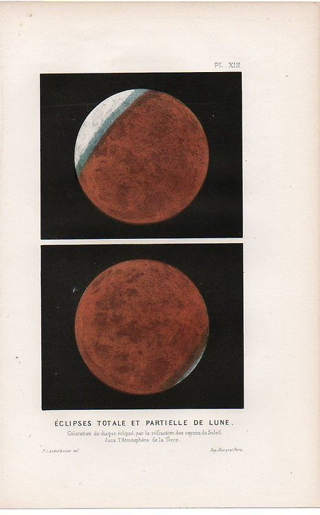 invisiblestories:  Partial Eclipse of the Moon, ca. 1860. (via...