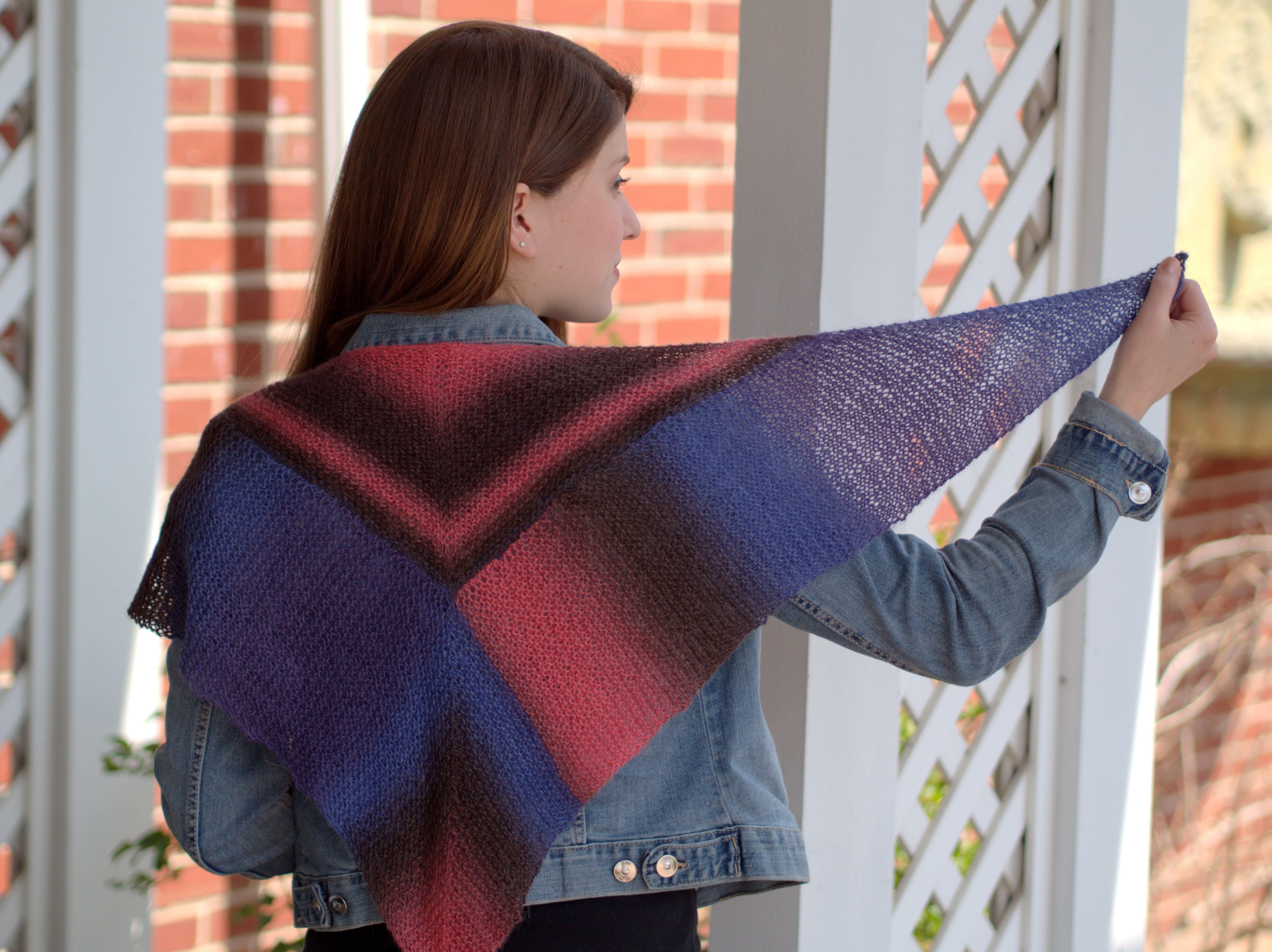 Revel Kerchief knitting pattern by Vanessa Ewing, using Plymouth ...
