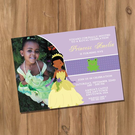 Princess Tiana Inspired Birthday Party Invitation – Princess Tiana Party Invitations
