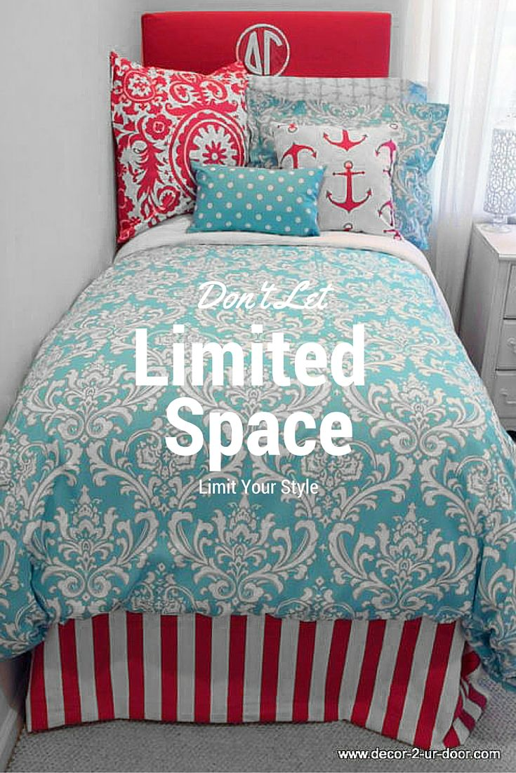 Design Your Own Dorm Room: College Dorm Room Bedding Inspiration. We Adore This