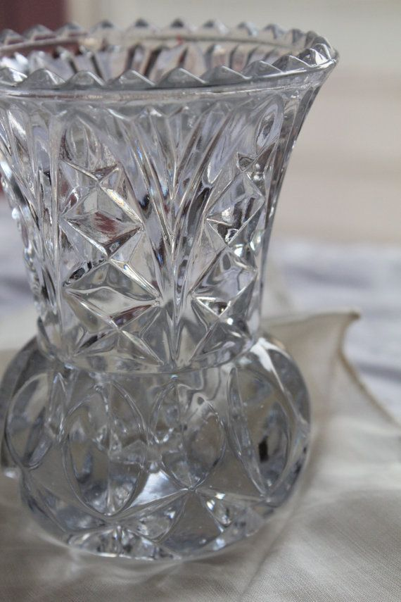 Reserved For Mitzi Princess House Two Mini Lead Crystal Bud Vases Toothpick Holder In 2019