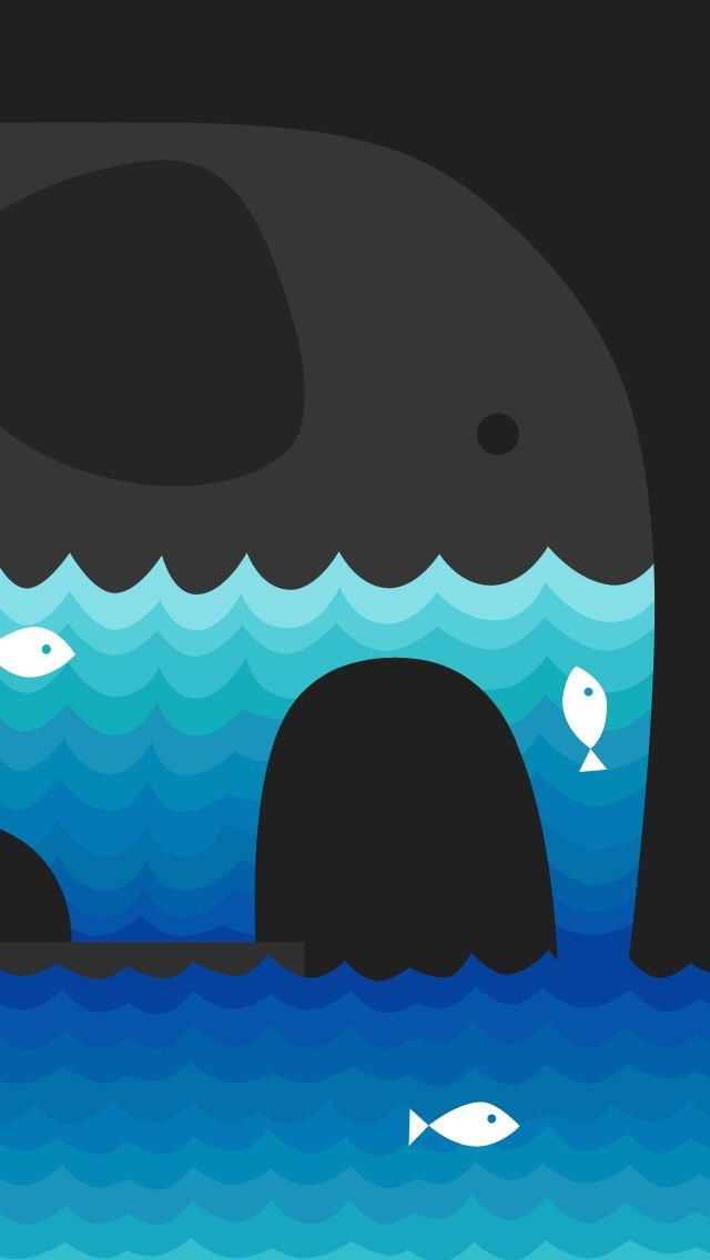 Abstract Elephant And Water Fish #iPhone #5s #Wallpaper