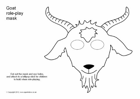 goat role play mask sb1208 sparklebox the grands pinterest