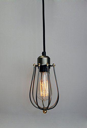 Luxury Purelume Retro Vintage K fig Lampe Pendelleuchte Schwarz inkl W Edison Gl hbirne