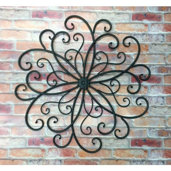 Outdoor Metal Wall Art Hanging Bohemian Decor Faux Wrought Iron Garden Sslid0242 Gorgeous Large