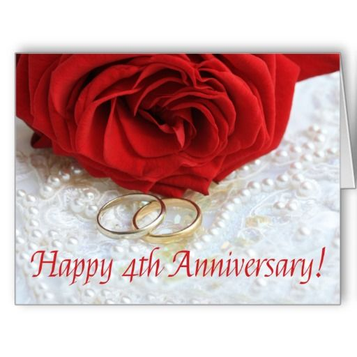 Happy 4th Anniversary roses Greeting Cards  Stuff SOLD on Zazzle  Happy 4th anniversary