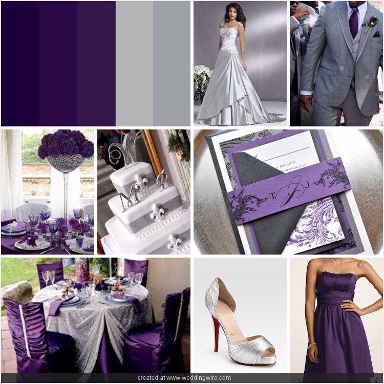 Grey and purple wedding ideas sunday september 16 2012 wedding pinterest silver - Purple and silver color scheme ...
