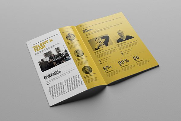 Studio Brochure Template On Behance  Design Phile