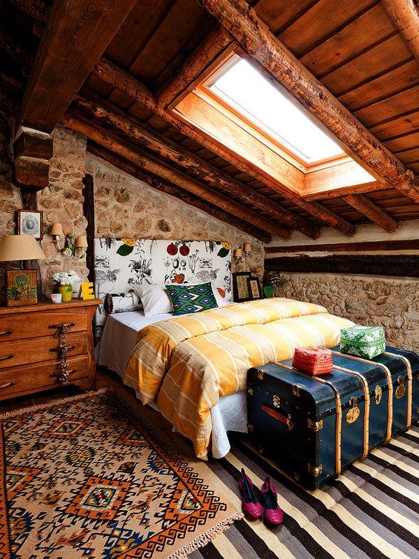 Una casa de campo de piedra y madera log cabins cabin for Casas de campo de madera