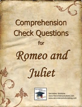 Romeo and Juliet Study Guide - Course Hero