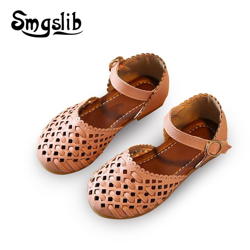 372a1b7cdbc Girls sandals Summer toddler gladiator sandals flat shoes Fashion children  shoes girls princess cut-outs Kids leather Shoes   Price   28.52   FREE  Shipping ...