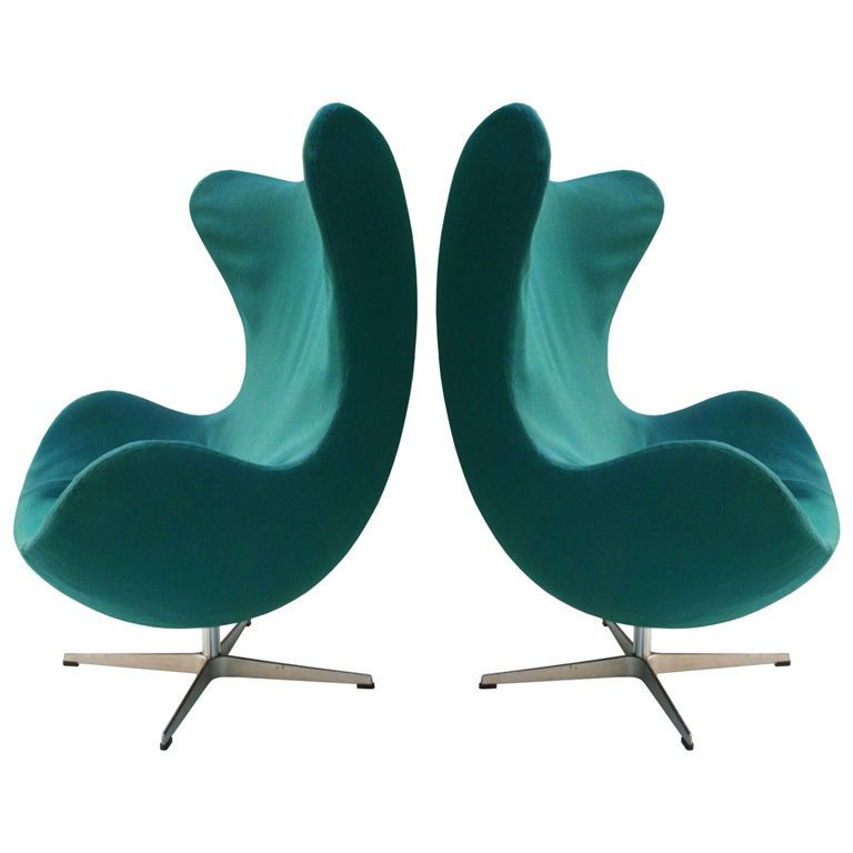 1stdibs | Arne Jacobsen Egg Chairs