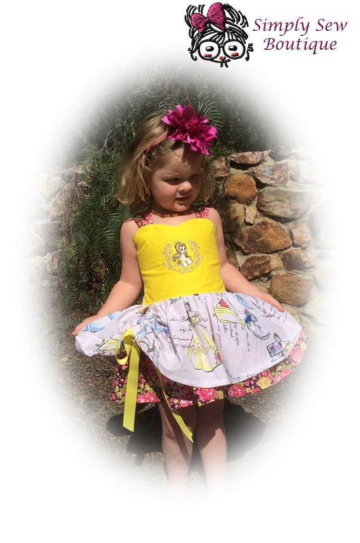 Girls Toddler Snow White Embroidered Dress 9 months thru 6x by SSBSimplySewBoutique on Etsy