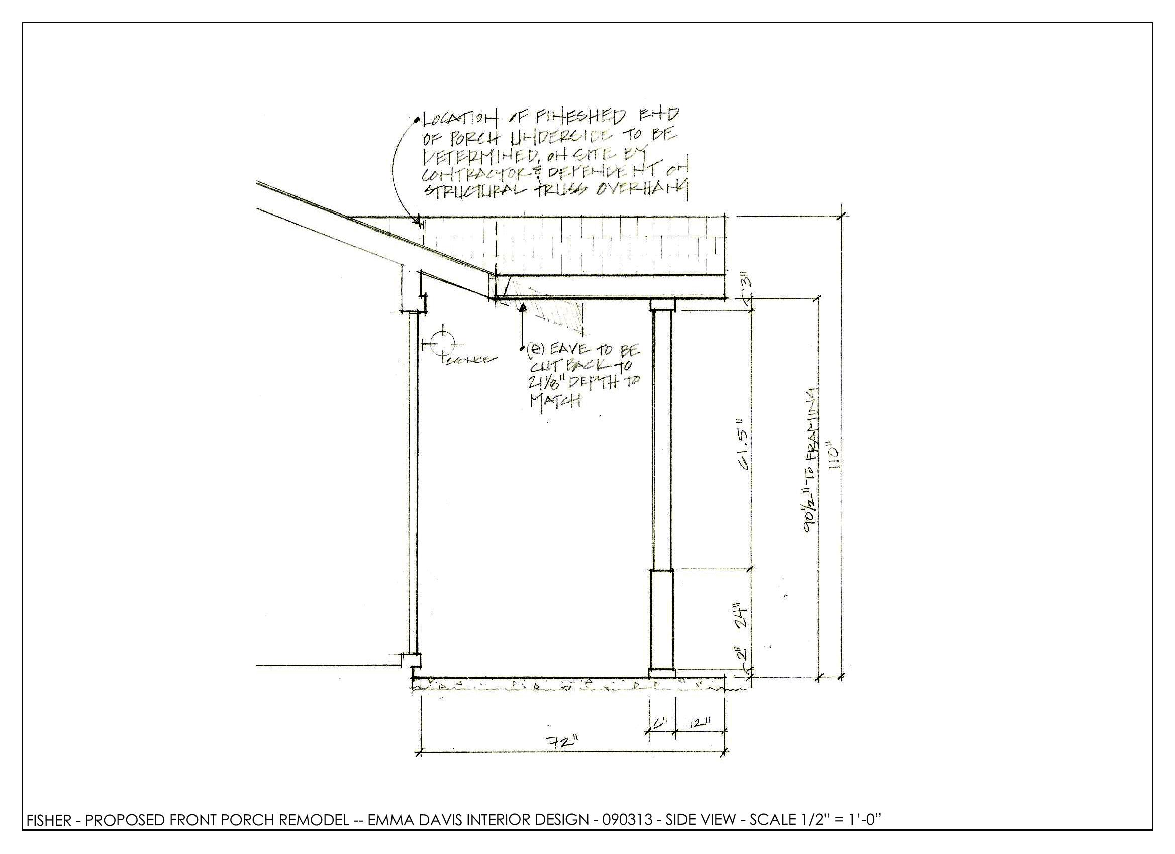 Front Porch Extension Concept Drawing Porch Extension Porch Roof Design Roof Design