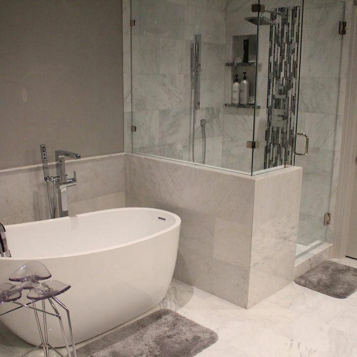 "Aqua Eden 59"" x 29"" Freestanding Soaking Acrylic Bathtub"