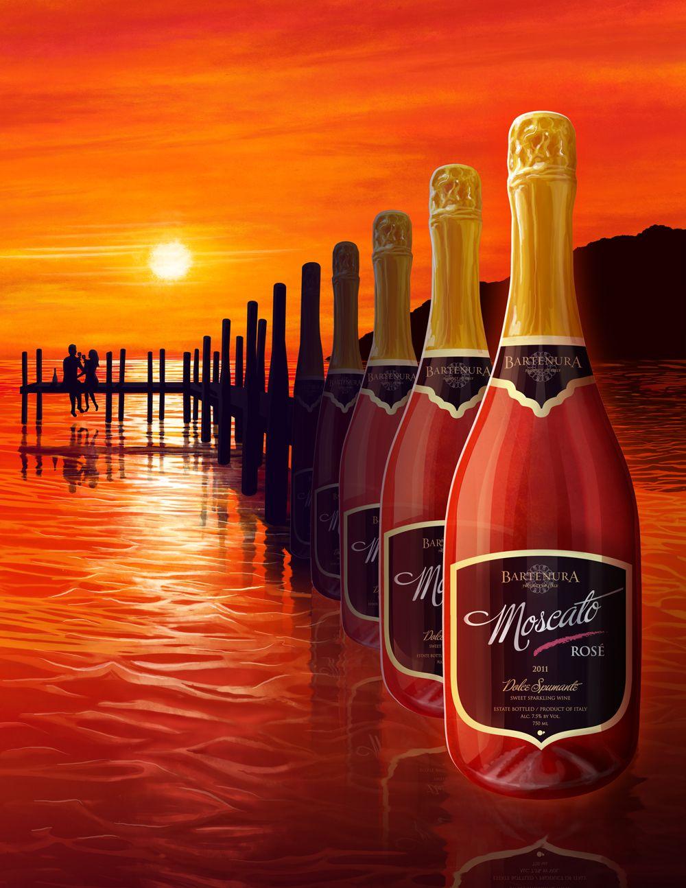 Bartenura Moscato Rose Bartenura Moscato Moscato Wine Rose Wine Bottle