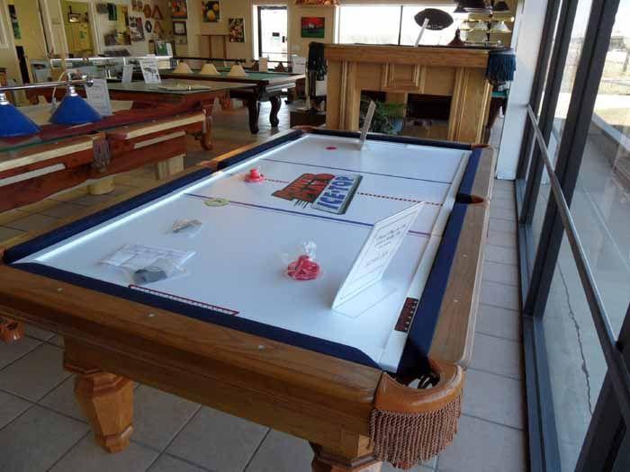 Astonishing Air Hockey Pool Table Conversion Tops Housepiration Download Free Architecture Designs Lectubocepmadebymaigaardcom