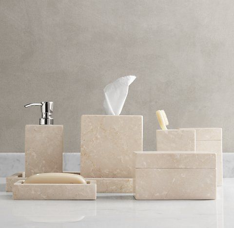 Countertop Accessories Rh Marble Bathroom Accessories Bath