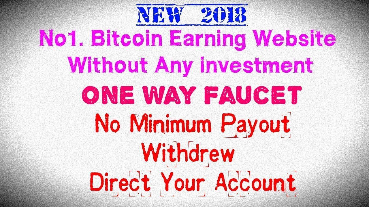 Earn Free Bitcoin | one way faucet | Bitcoin | Money | faucet hub