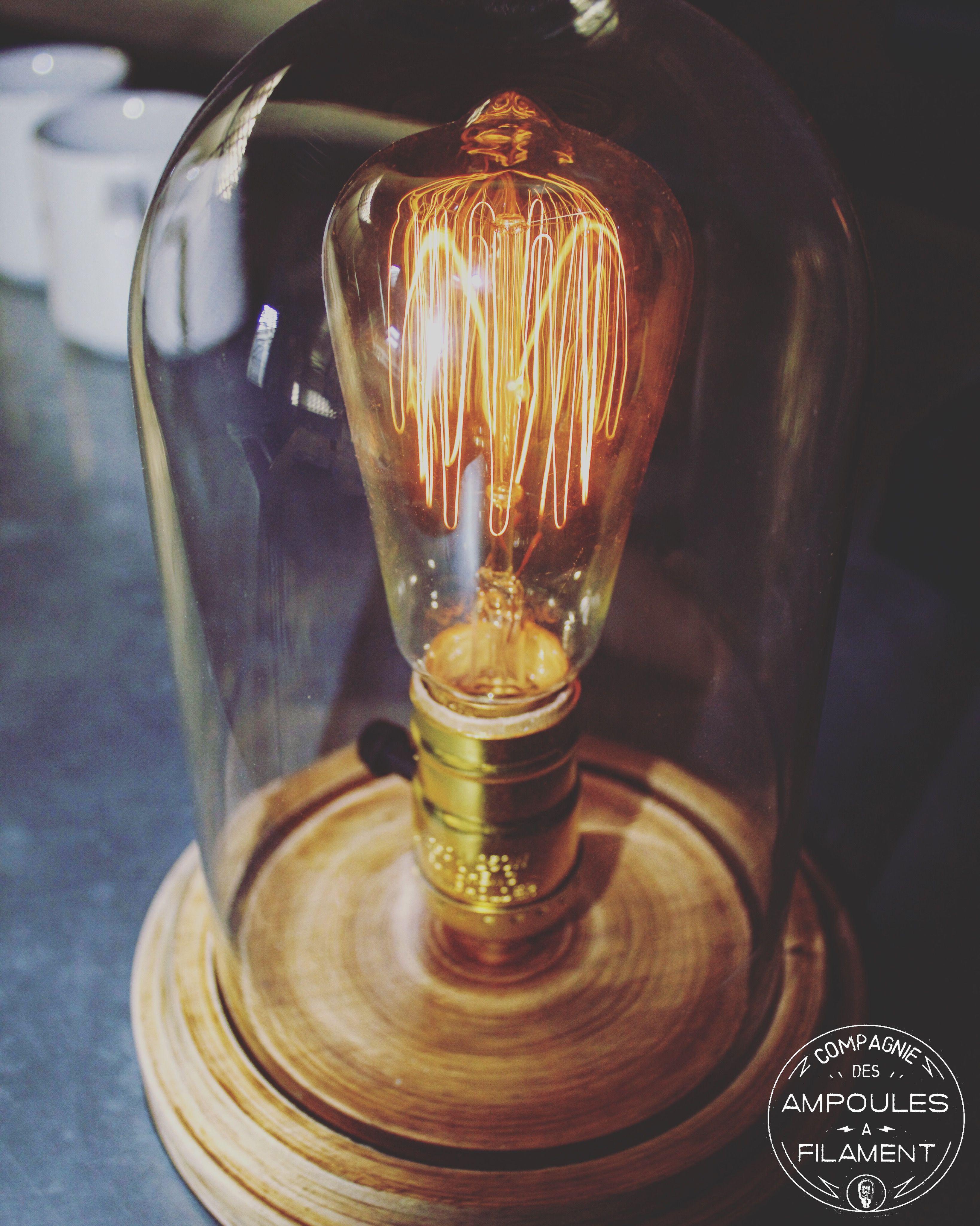 Lampe Vintage Ampoule Style À Industriel Verre Pour A Poser globe PkXOZiuT