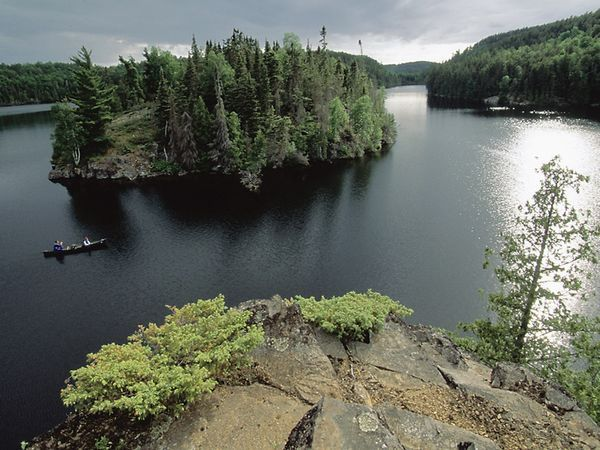 Boundary Waters, MN.  Took a canoe trip here in May of 2009 with my husband.  Breathtaking beauty and days complete solitude!  Take me back.