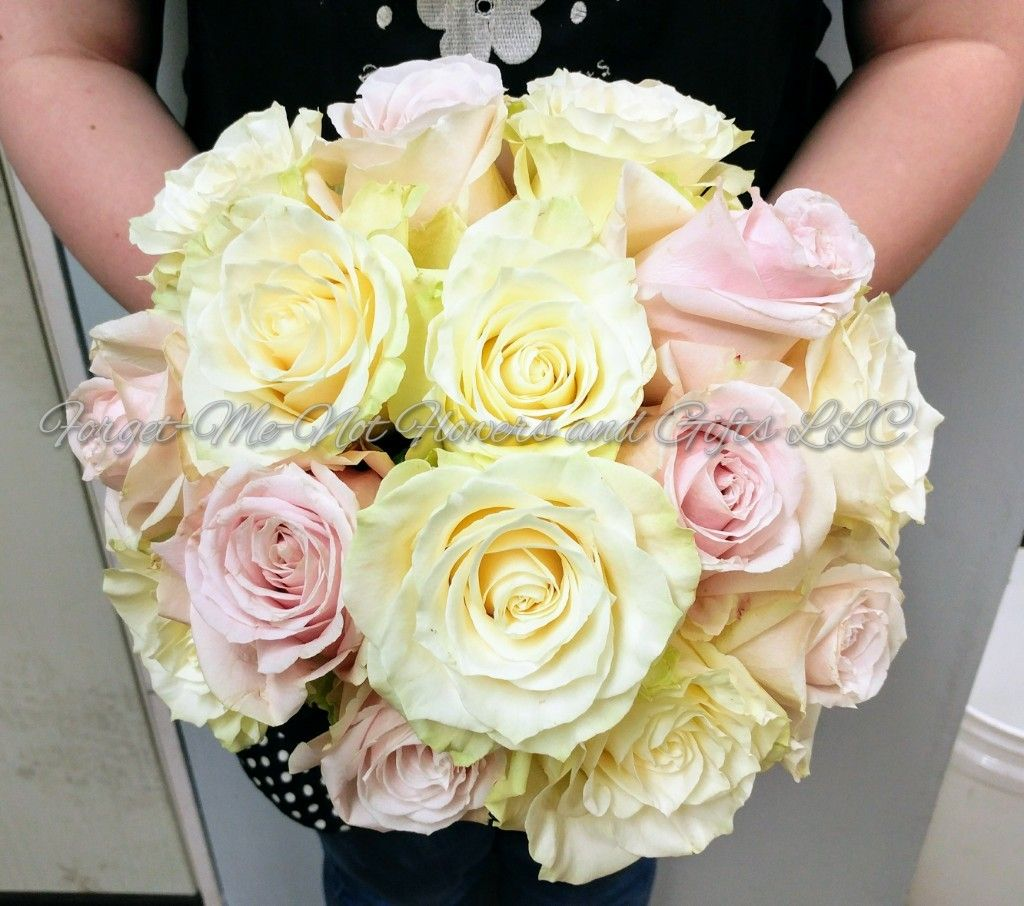 Wedding bouquets not flowers  Pink and Cream Rose Bridal Bouquet by ForgetMeNot Flowers and