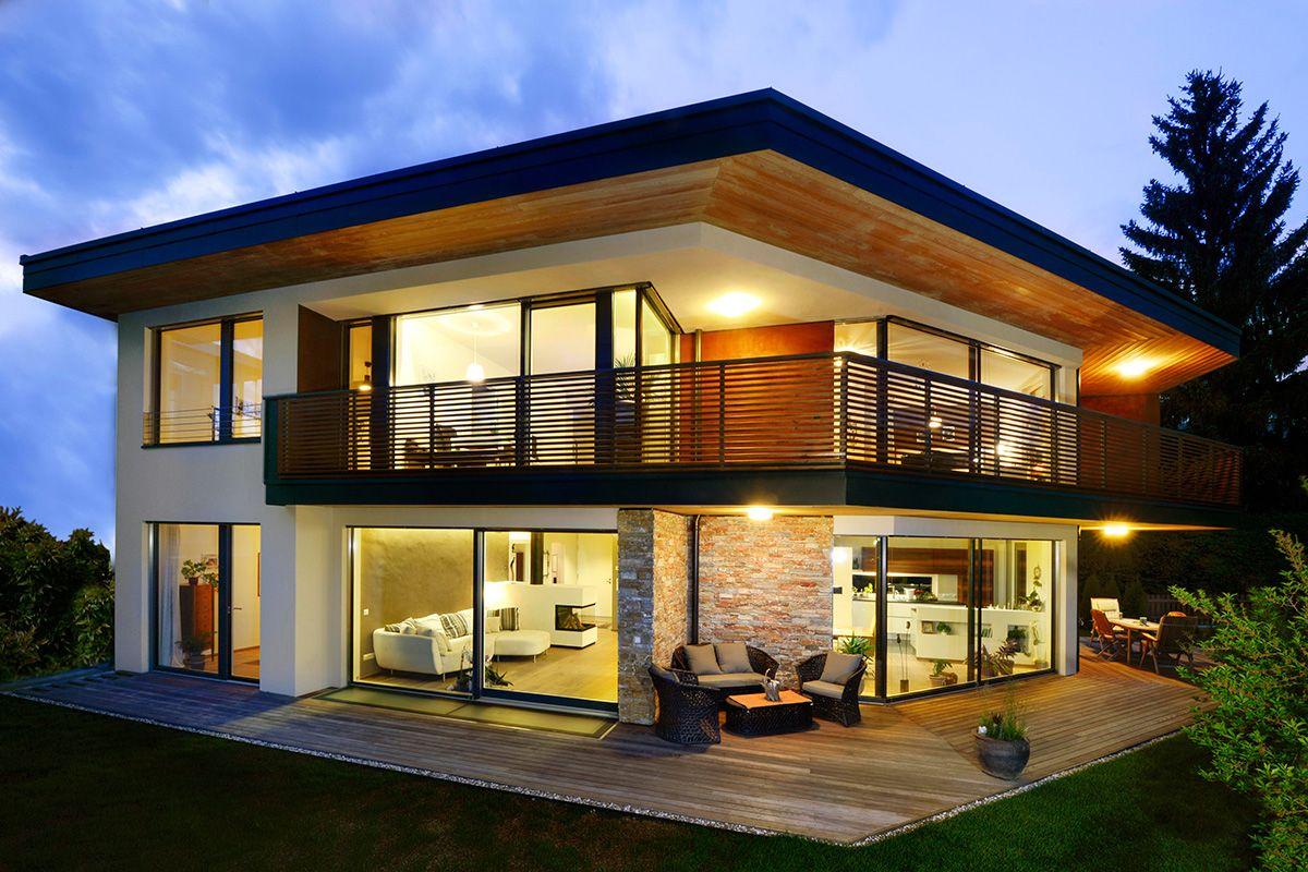 Auswahl moderner Häuser auf: ➤ https://www.fertighaus.de/stile ...