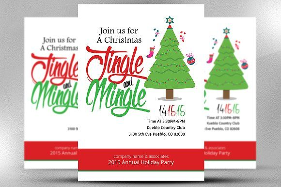 Christmas Office Invitation Flyer Flyer template, Template and