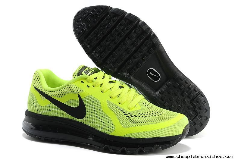 on sale b6769 7dd80 Mens Nike Air Max 2014 Fluorescence Green Black Shoes