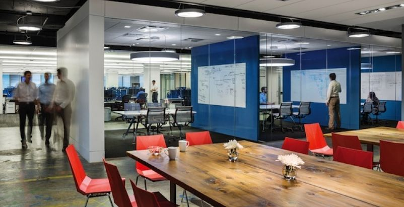 office layout software. Since Trading Traditional Closed Cubicles For An Open, Transparent Layout, Software Developer Appian Reports A Positive Change I | Pinterest Interior Office Layout