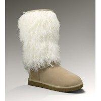 UGG Women's Sheepskin Tall Cuff Boots Sand