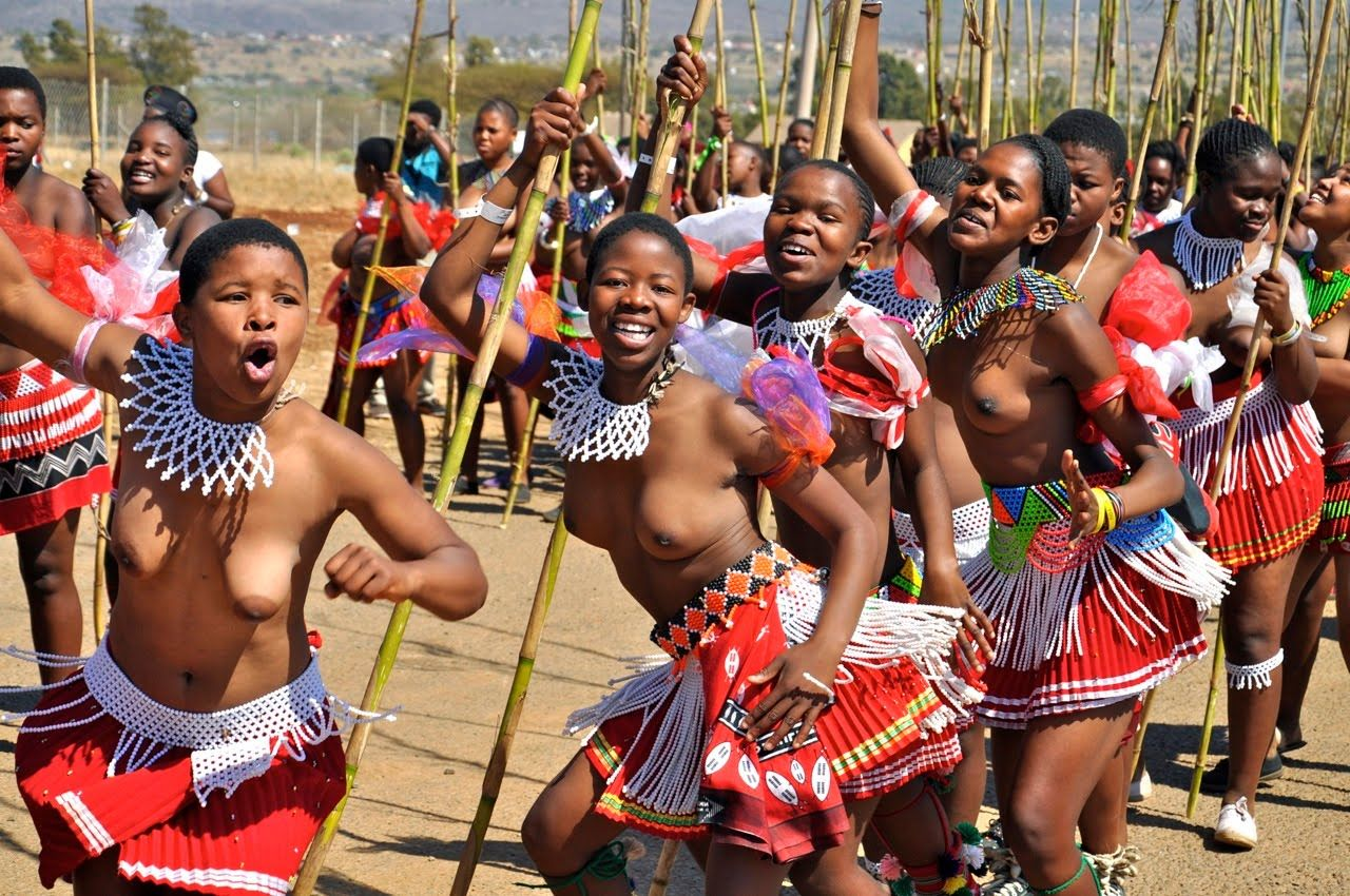 South african reed dance girls that