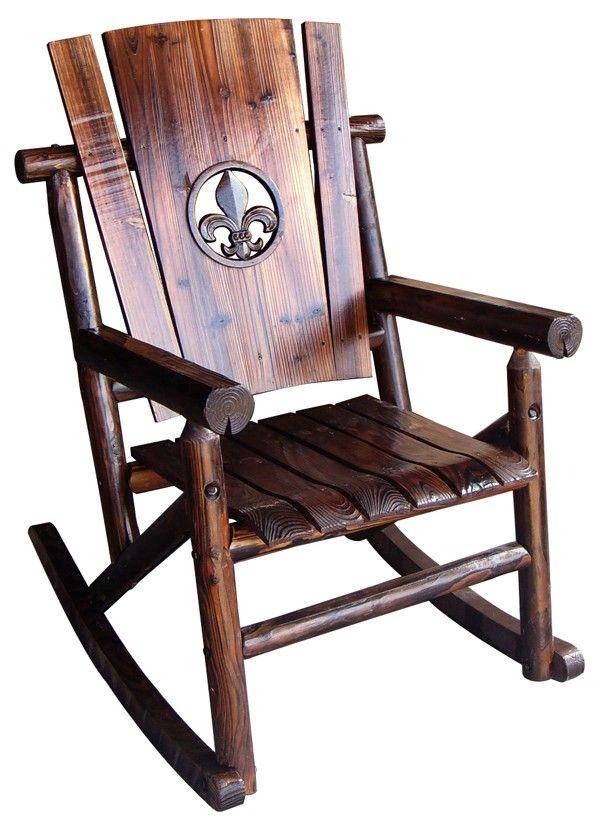 fleur de lis embellished rocking chair another product aimed at those crazed nosaints fans