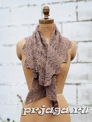 платок спицами на зиму
