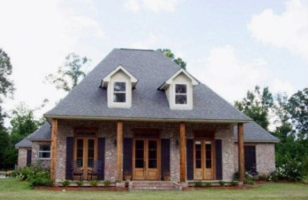 Love this acadian style home home ideas pinterest for Acadian style house plans with wrap around porch