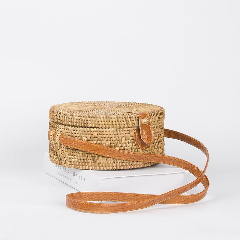 Acheter arpimala 2017 boh me paille sacs pour femmes petit cercle plage sacs - Acheter de la paille pour jardin ...