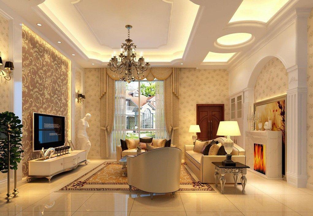 25 Elegant Ceiling Designs For Living Room Thiết Kế Nội Thất Nha