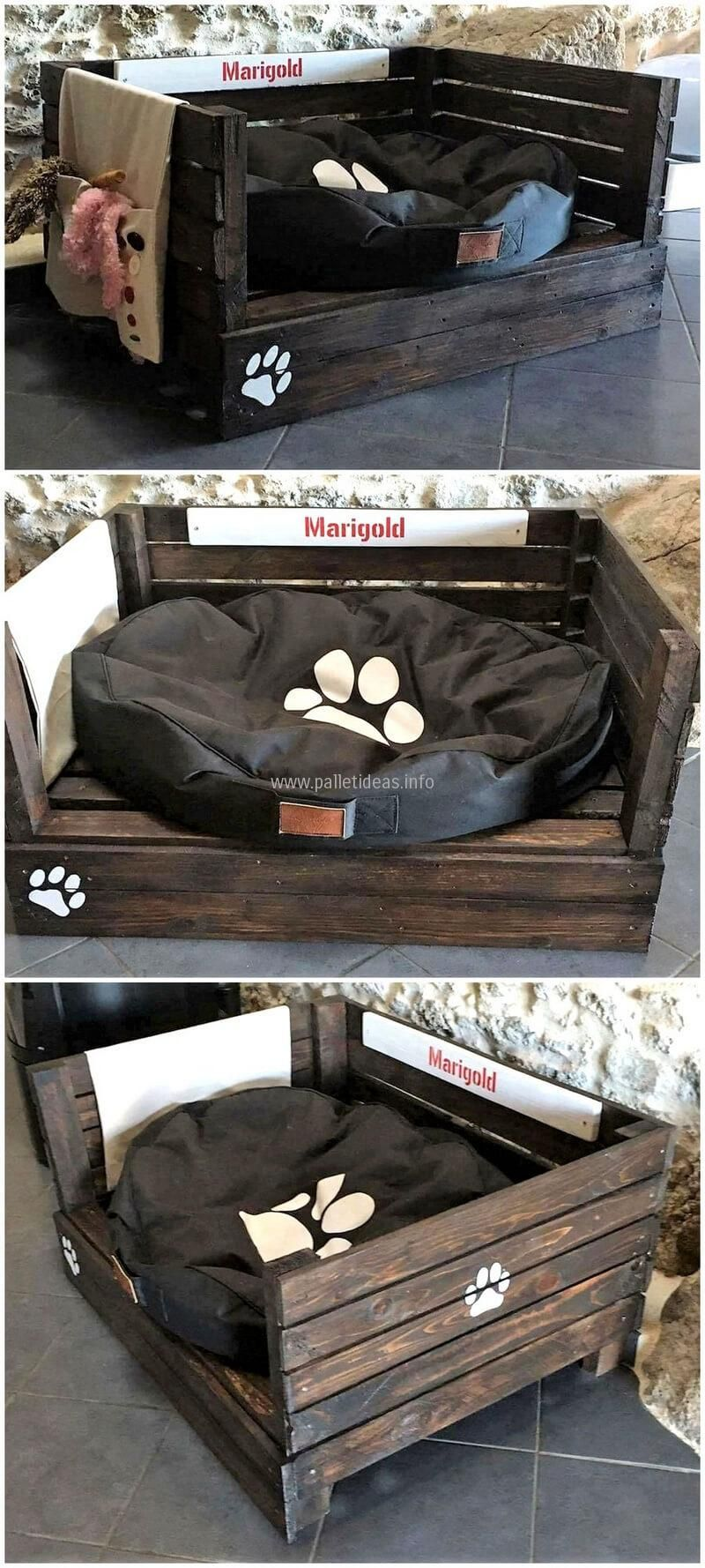 Clever Ways To Reuse Old Industrial Wood Pallets Pallet Dog Beds  # Muebles Sleeping Dogs
