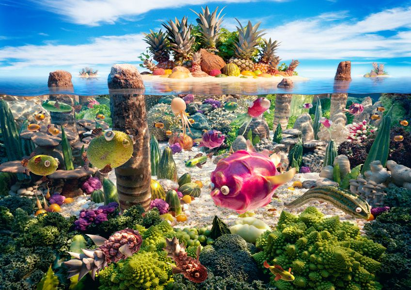 Underwater Food Scenery Awesome Food Art Pinterest - 15 fantasy landscapes entirely made from food