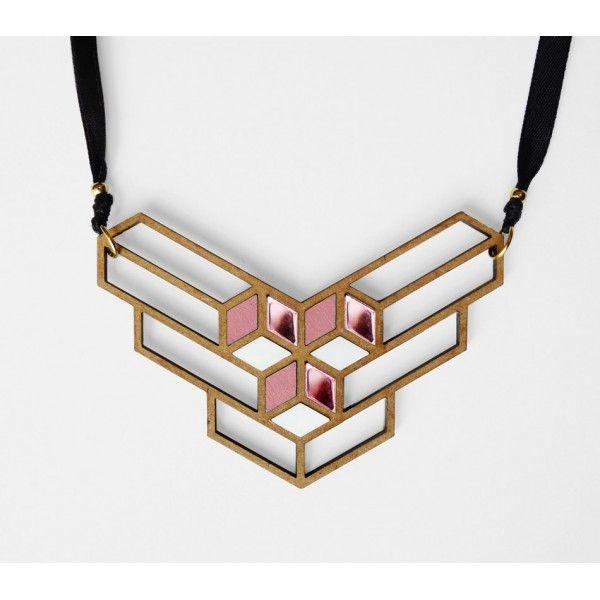 Les Petites Decoupes collier cubik - les petites découpes   geometric style   pinterest