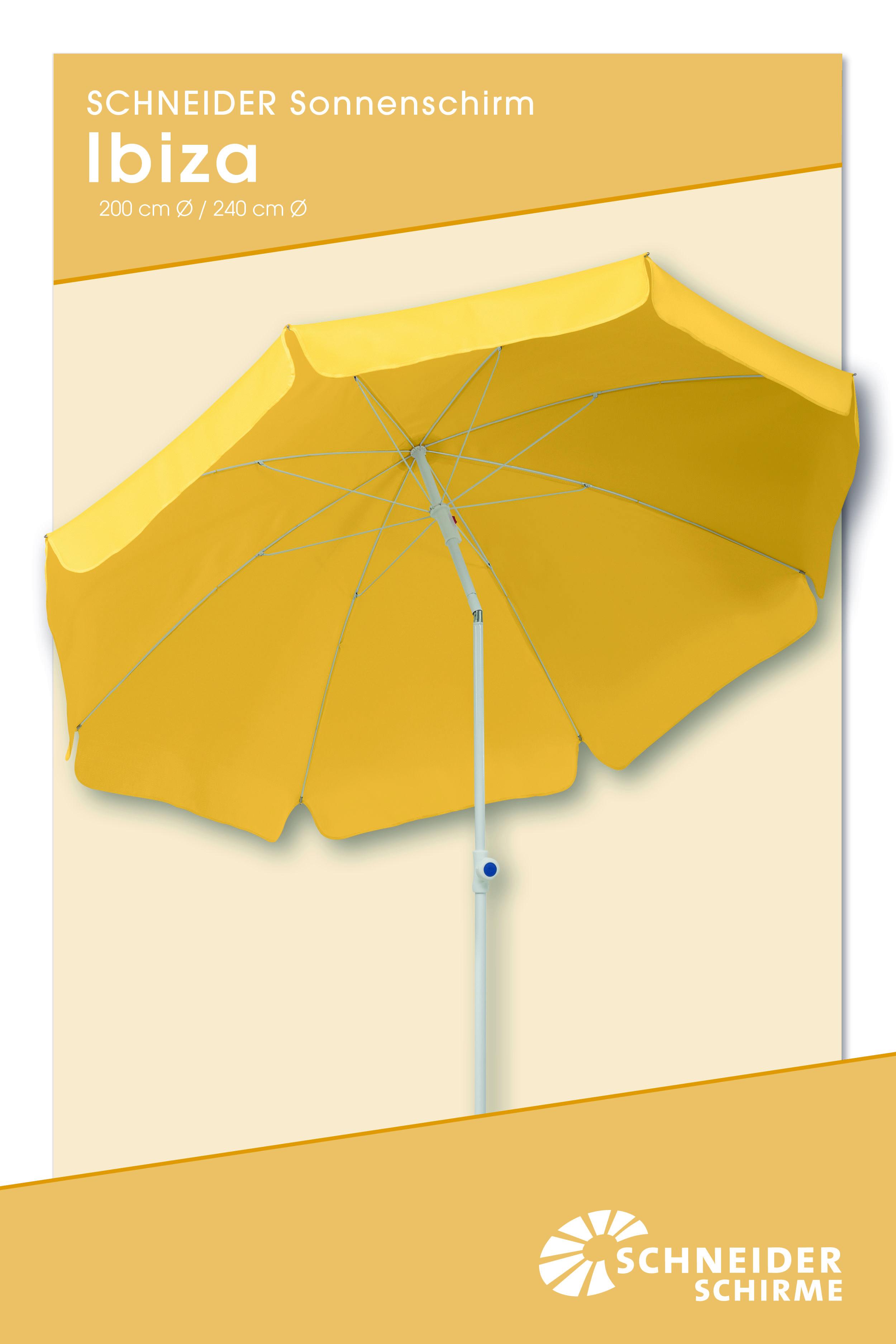 Sonnenschirm Ibiza 200 Bzw 240 Cm O Bespannung 100