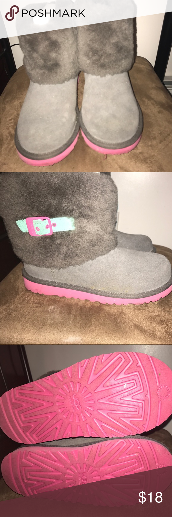 UGGs size 5 for Women/Girls Gray/Pink/Blue