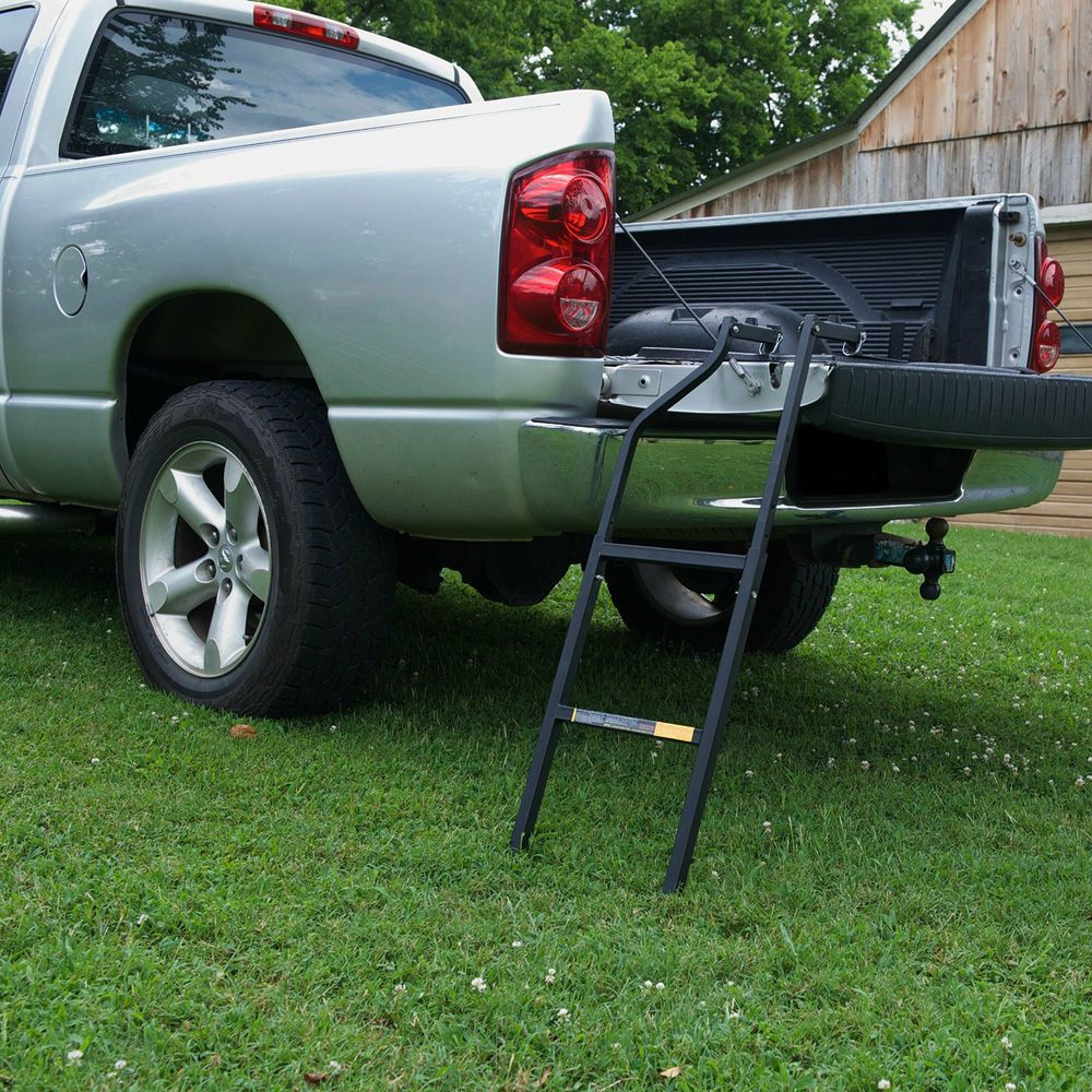 Truck Tailgate Ladder Bed Step Side Folding Pickup Cargo