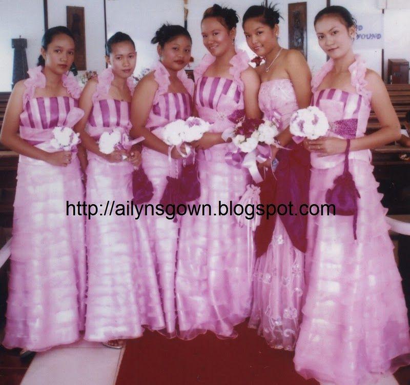 Wedding Entourage Gowns: Wedding Entourage Gowns Designs