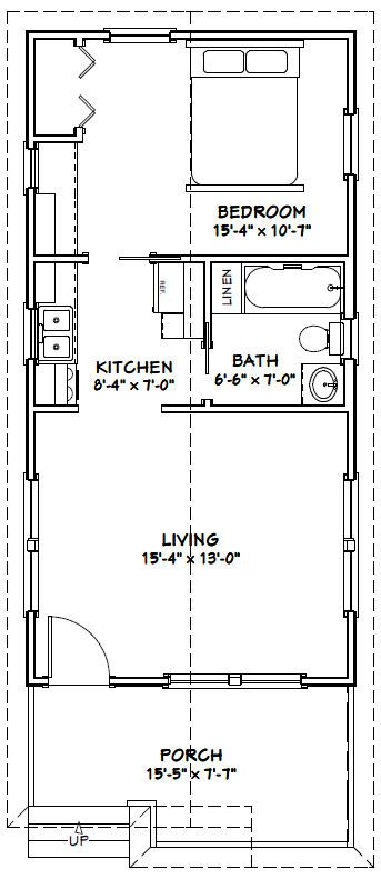 16x32 tiny house 16x32h1i 511 sq ft excellent for 16x32 house plans