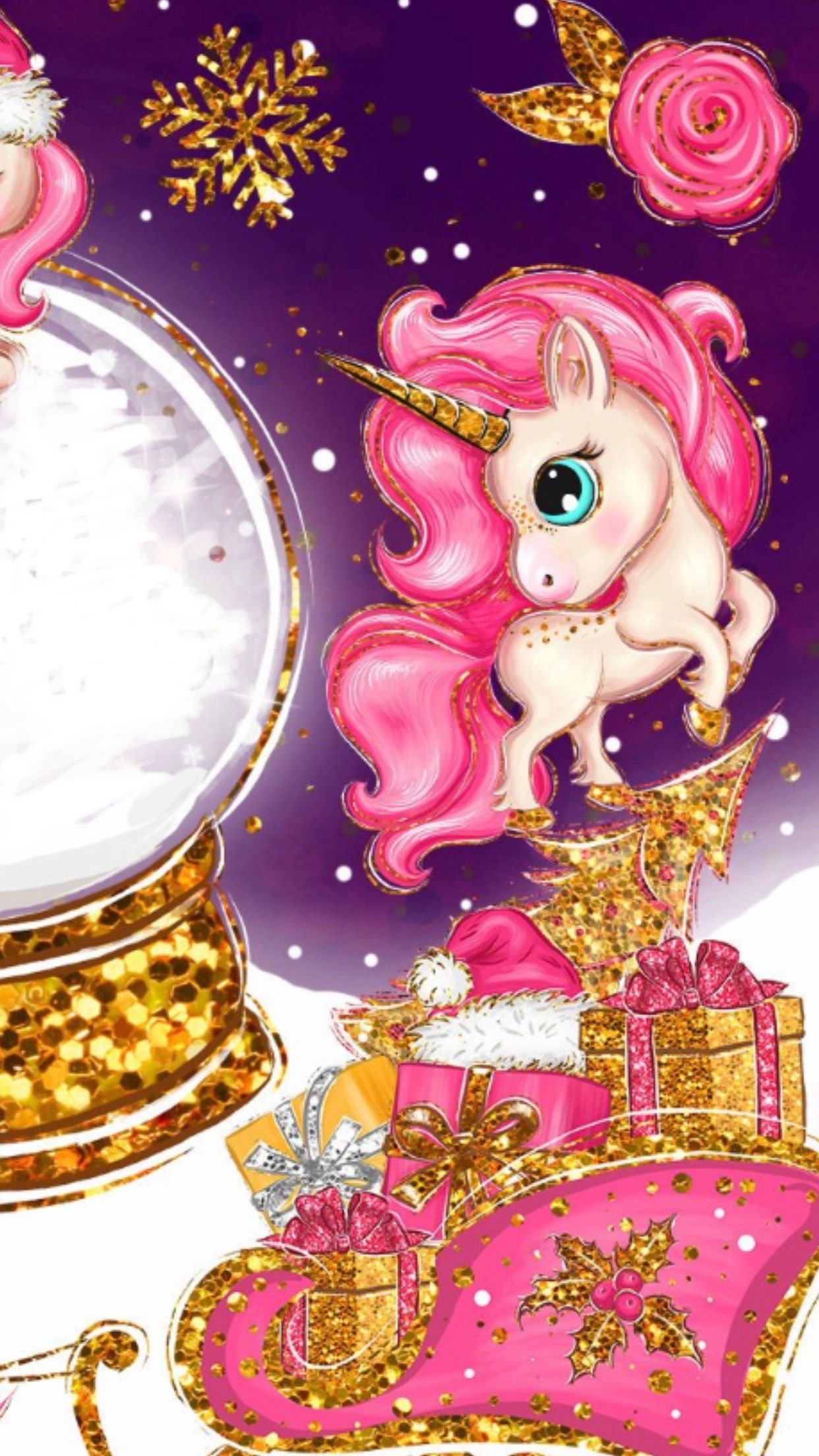 Wallpaper By Artist Unknown Unicorn Wallpaper Cute Christmas Wallpaper Unicorn Pictures